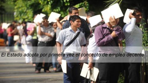 EJECUTIVO APRUEBA POLÍTICA NACIONAL DE EMPLEO DECENTE PARA CERRAR LAS BRECHAS EN EL MERCADO LABORAL