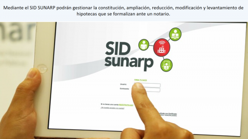 SUNARP: DESDE MAÑANA DOCUMENTOS NOTARIALES DE HIPOTECA SE REALIZARÁN EXCLUSIVAMENTE VÍA INTERNET