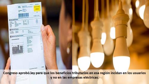 CUIDADANOS DE LA AMAZONÍA NO PAGARÁN IGV POR CONSUMO DE ELECTRICIDAD